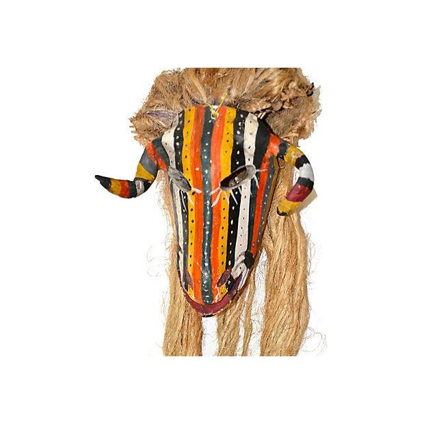 Folk Art Mexican Ceremonial Guerrero Goat Mask For Sale - Image 3 of 7