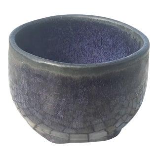 1998 Purple Ceramic Bowl by Joelle For Sale