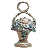 Image of Painted Iron Door Stop For Sale