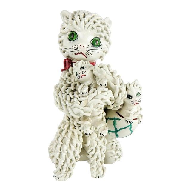 1950s Italian Spaghetti Cat & Kittens Figure For Sale