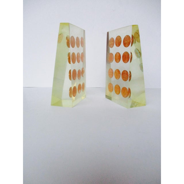 1972 Lucite Penny Bookends - A Pair - Image 4 of 8