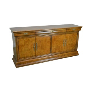 Henredon Charles X Collection Burl Wood Sideboard Buffet Cabinet For Sale