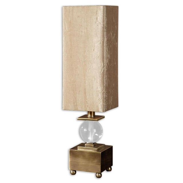 Brushed Brass & Crystal Ball Lamp - Image 4 of 4