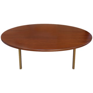 Dunbar Monumental Round Mid-Century Rosewood Dining Table For Sale