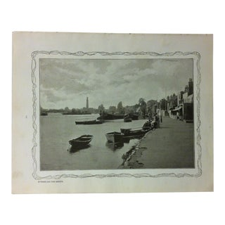 """1906 """"Strand - on - the - Green"""" Famous View of London Print For Sale"""