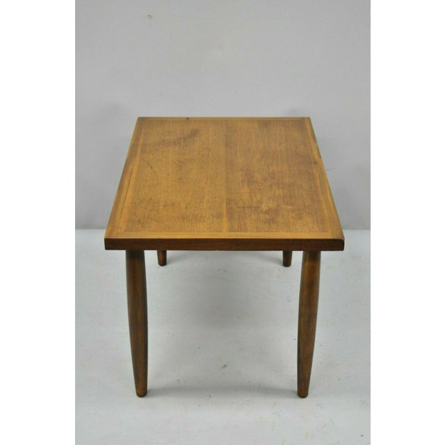 Mid Century Modern Walnut Rectangular Side Table For Sale - Image 10 of 11
