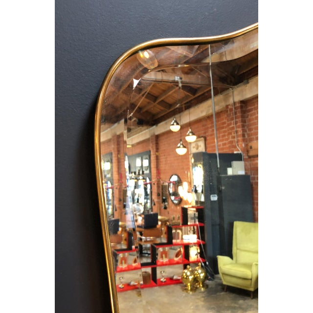 Giant Midcentury Italian Molded Wall Mirror, 1950s For Sale In Los Angeles - Image 6 of 8