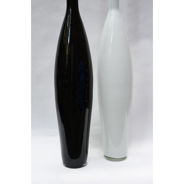 Oversized Murano Glass Bottles - A Pair - Image 2 of 4