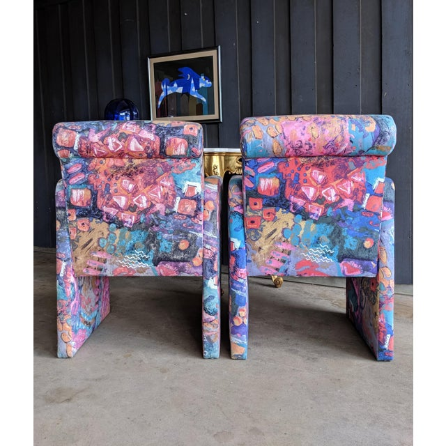 1980s Contemporary Colorful Modernist Chairs, a Pair For Sale In Dallas - Image 6 of 13