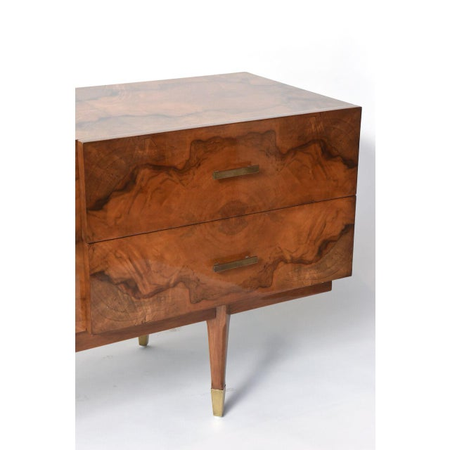 Gold Italian Modern Root Wood Six-Drawer Buffet or Chest of Drawers For Sale - Image 8 of 8