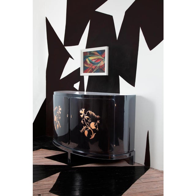 A GERMAN EXPRESSIONIST DEMILUNE CABINET - Image 3 of 4
