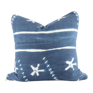 """Oceanic Mudcloth Pillow 18"""" X 18"""" For Sale"""