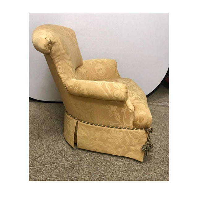 1970s 1970s Vintage Baker Furniture Wingback Ox Armchair For Sale - Image 5 of 11