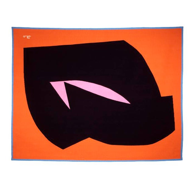 Abstract Jan Yoors, Orange Diamond, Usa, 1970s For Sale - Image 3 of 3