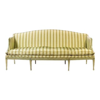 19th Century Italian Neoclassical Sofa With Painted Decoration For Sale
