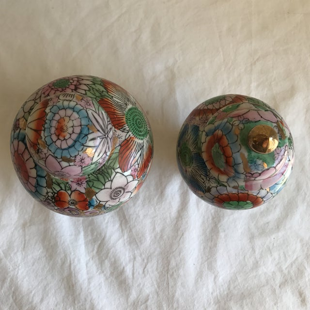 Chinoiserie Ceramic Ginger Jars - A Pair - Image 3 of 8
