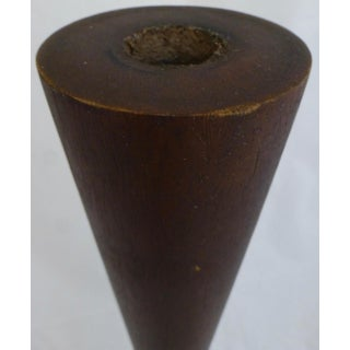 Large Mid Century Modern Solid Walnut Candlestick Preview