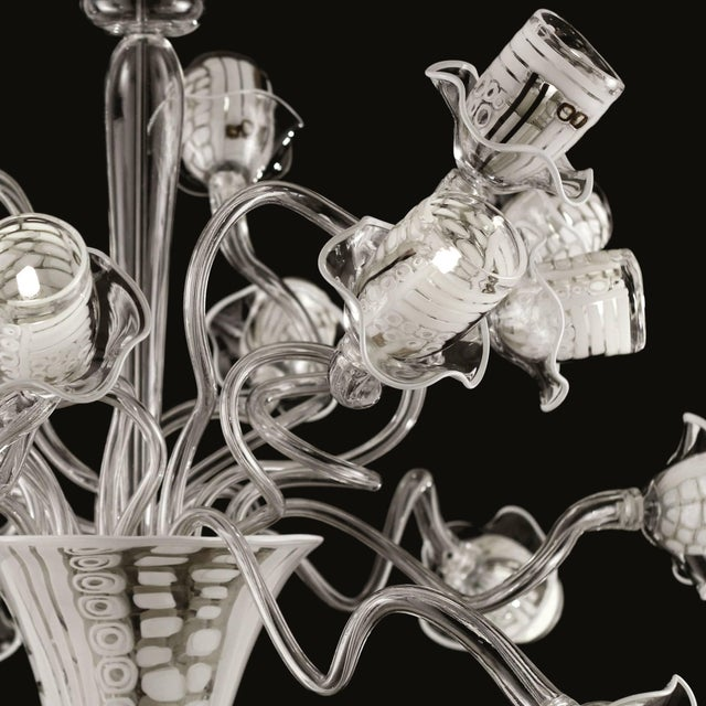 Italian Piacenza Chandelier by Fabio Ltd For Sale - Image 3 of 5