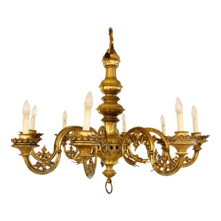 19th Century Large Gothic Revival Chandelier For Sale