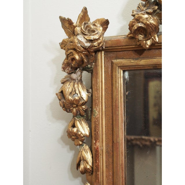 Mid 19th Century Petite Parcel Gilt Mirror For Sale - Image 5 of 9