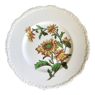 Antique 1920-1930 Cauldon England Botanical Plate For Sale
