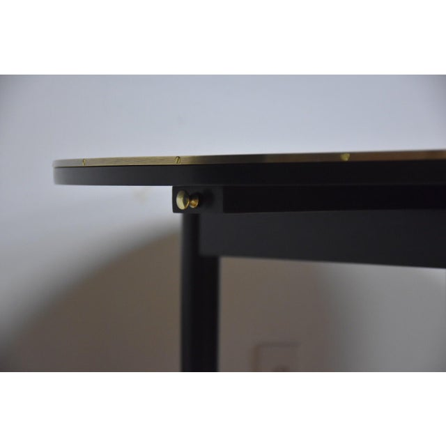 Paul McCobb Black Lacquer and Brass Dining Table For Sale - Image 9 of 11