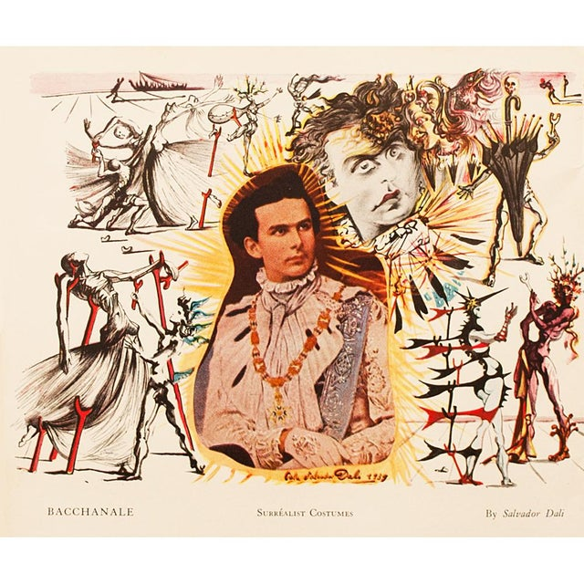 1939 Salvador Dalí Original Two Sided Lithograph For Sale In Dallas - Image 6 of 8