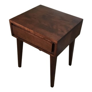 1950s Mid Century Modern Contant Ball Birch Nightstand For Sale