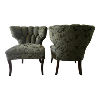 1940s Vintage Hollywood Regency Klismos Style Chairs - a Pair For Sale