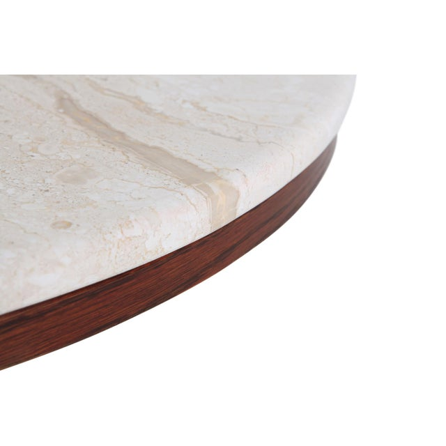 Wood Jean Royere Style Travertine Coffee Table For Sale - Image 7 of 8
