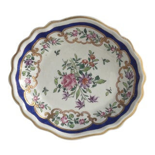 Vintage French Hand Painted Dish