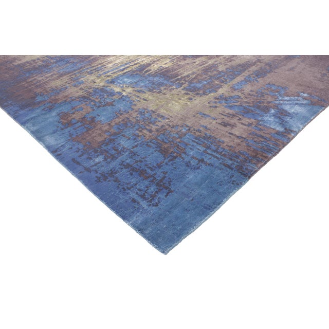 "Contemporary Abstract Scratch Texture Rug - 8'7"" x 9'11"" - Image 2 of 7"