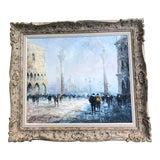 Image of Original Vintage Impressionist Painting Venice Street Scene Signed For Sale