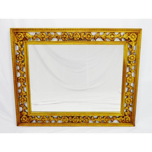 Gold Gilt Pierced Wall Mirror - Image 3 of 9