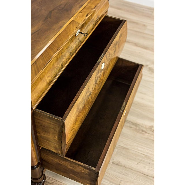 19th-Century Louis Philippe Dresser Veneered with Mahogany For Sale - Image 9 of 11