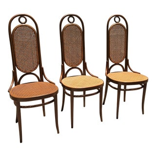 Vintage Thonet Dining Chairs - Set of 3
