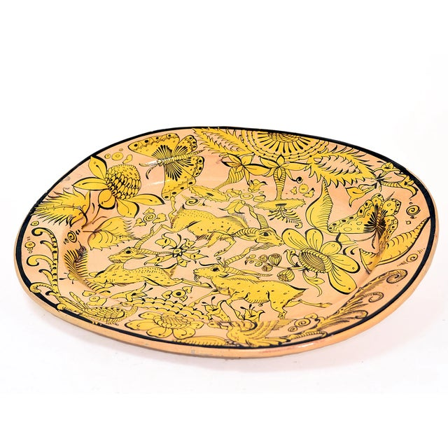 Boho Chic Fantasia Platter, C Early 20th C. For Sale - Image 3 of 5