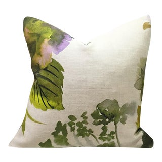 Designers Guild Palace Grande Moss Custom Pillow For Sale