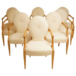 "John Hutton for Donghia 1980 ""Casper"" Maple Wood Dining Chairs - Set of 8"