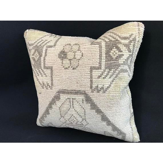 Turkish 1960's Oushak Antique Hanmade Pillow Case For Sale - Image 3 of 11