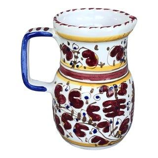 1970s Deruta Italian Pottery Pitcher For Sale