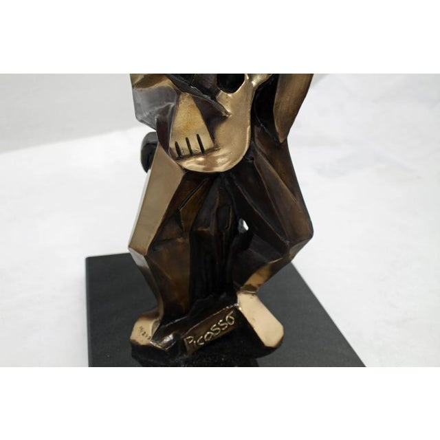 Bronze Abstract Guitarist Sculpture after Picasso Numbered For Sale In New York - Image 6 of 9