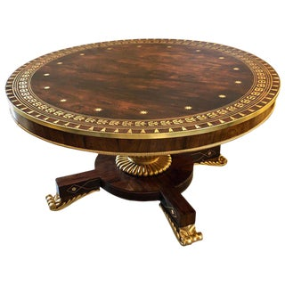 Russian Neoclassical 19th Century Rosewood Breakfast / Center / Dining Table For Sale
