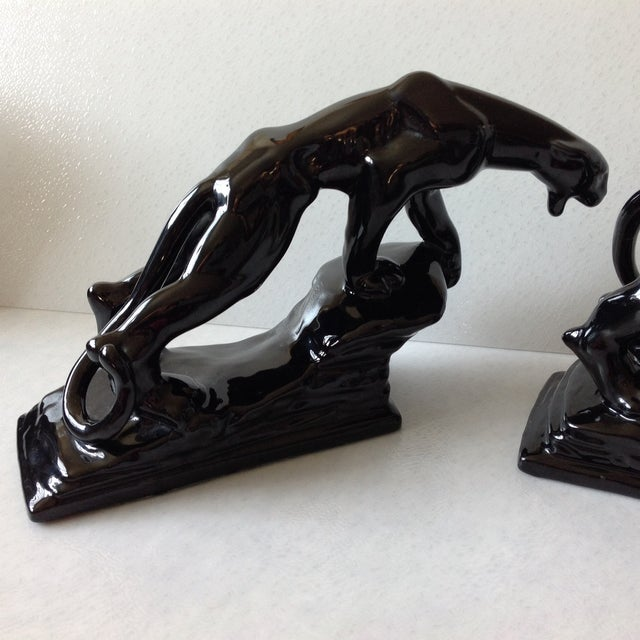 Haeger Mid-Century Panther Figures by Royal Haeger - Pair For Sale - Image 4 of 11