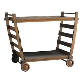 Gerrit Rietveld Very Rare Wooden Serving Trolley, Netherlands, 1940s For Sale