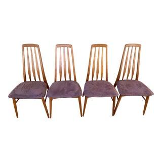 1960s Vintage Koefoed Hornslet Eva Teak Dining Chairs- Set of 4 For Sale