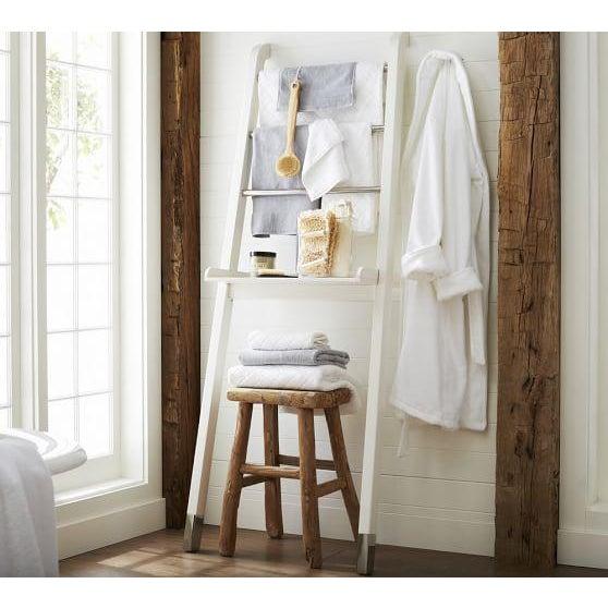 "White ""Nappa"" Pottery Barn Ladder Storage - Image 3 of 8"