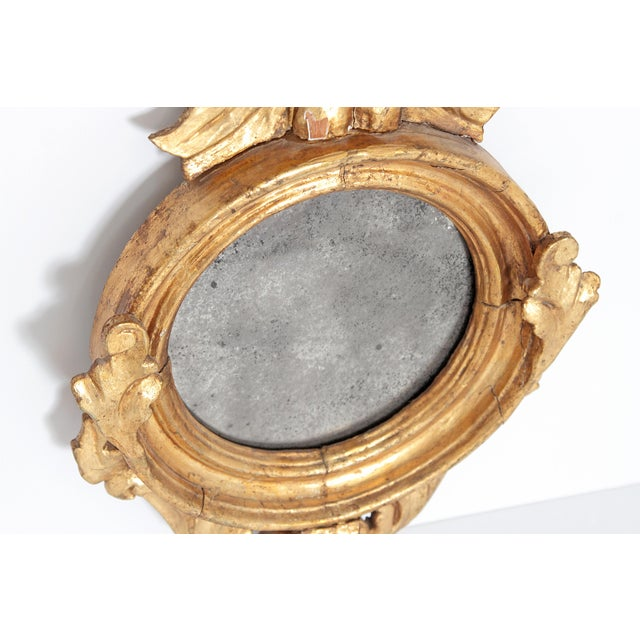 Pair of Giltwood Mirrors With Eagles, Wings Outstretched For Sale - Image 9 of 13