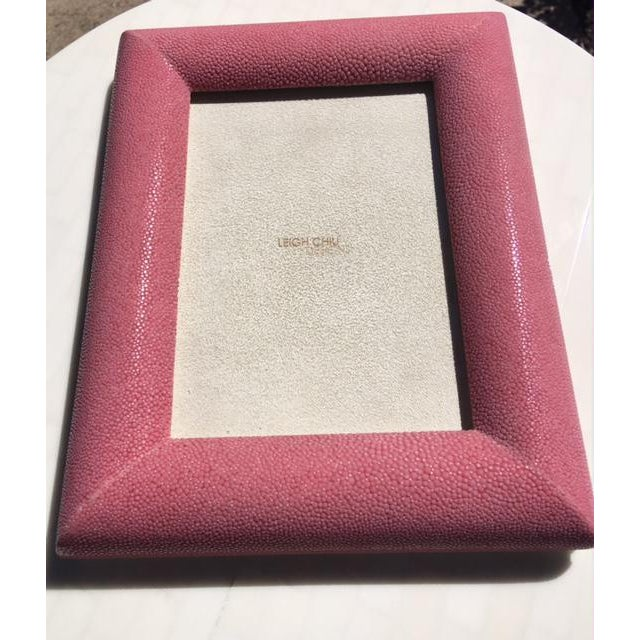 Rose Shagreen Picture Frame - Image 3 of 6