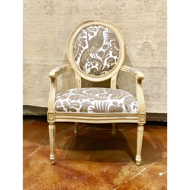 French Taupe & Ivory Avery Chairs - a Pair For Sale - Image 3 of 8